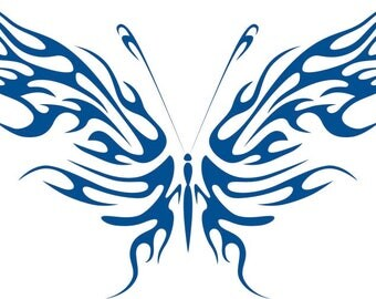 Fire Wing Butterfly Decal