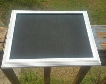 White framed chalkboard