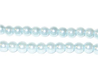 6mm Round Moonlight Glass Pearl Bead, approx 78 beads