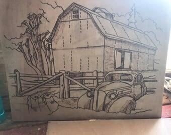 Old barn/car