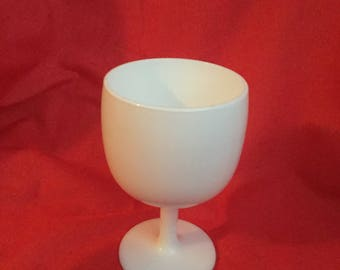 Milk glass goblet