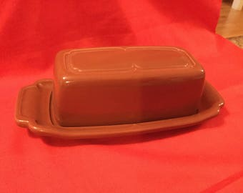 Vintage  butter dish with lid .