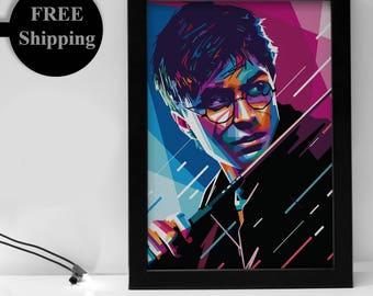 Harry Potter Poster - Harry Potter World - Harry Potter Art - Harry Potter Wands - Harry Potter Print - Harry Potter Gifts - FRAMED