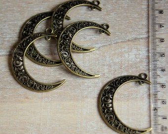 Bronze double Moon pendant