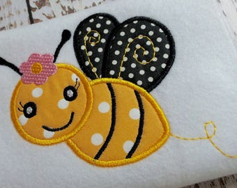 Applique bumble bee machine embroidery design file instant download, embroidery bumble bee, appliqué bumble bee design, summer bumble bee