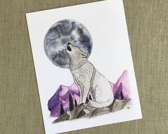 Pack Leader Watercolor Art Print - Limited Edition 8x10