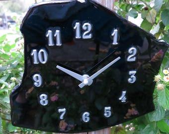Obsidian, Natural Stone Wall Clock, FREE Shipping