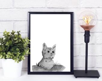 nursery animal wall decal - alphabet wall art for nursery - instant download printable art nursery - nursery animal head - nursery artwork