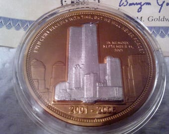 911 5th Year Annaversary Coin of Twin Towers Attack