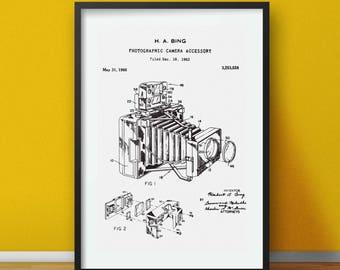 Vintage Camera Patent Print, Photography Print, Camera Poster, Retro Camera Poster, Black & White Patent, Old Camera Patent, Digital Art