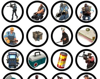 Team Fortress 2 Cupcake Toppers