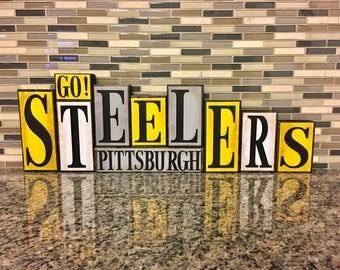 Pittsburgh Steelers Wood Block Set