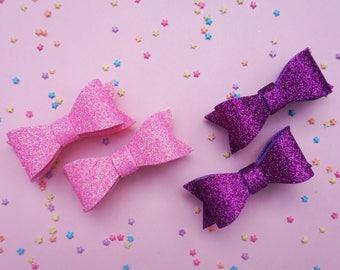 Glitter Bow Clips