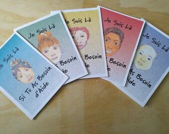 Cartes d'Encouragement Personnalisé en français