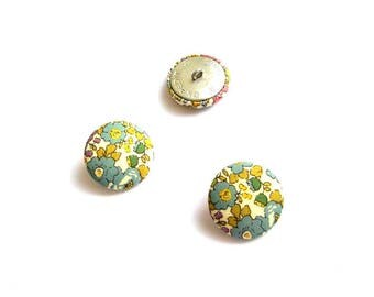 5 fabric buttons Liberty Betsy Ann, 5 colors to choose and option 9 sizes, buttons cover liberty Betsy Ann