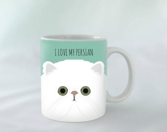 I Love my Persian breed Mug personalised | Different colours available | Custom name mugs | Cat Mug | Persian Cat gift