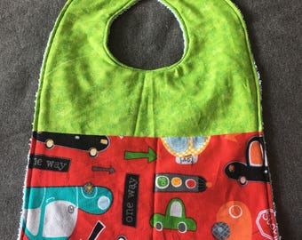 Baby Bib, Toddler Bib- Cars, Baby Shower Gift