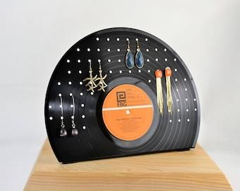 display jewellery, stand rack earrings vinyl record, holder, rings