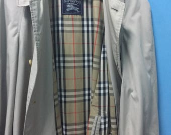 Rare!Vintage! Burberrys Long Coat!! Made in England!! Swagger!! Streetwear!! High-End!! Hypebeast!! Casual look!!