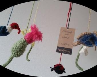 Organic Wool Baby Mobile Kits
