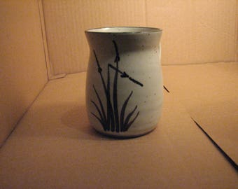 studio art pottery-creamer mug sign