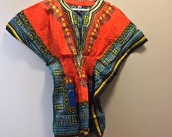 Women's African Prints Dashiki Sleeves