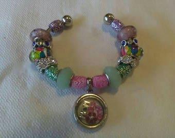Mom shadow box charm bracelet