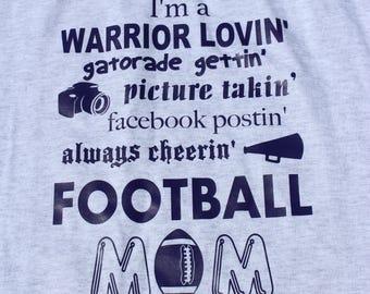 Football mom-t-shirt-sweatshirt-team pride shirt-football shirt-school sport shirt