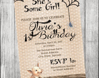 Charlotte's Web Invitation