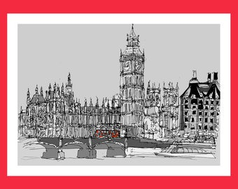 Big Ben - Signed Giclée Print by Keith Browning