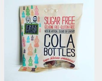 Vegan, Gluten Free, Sugar Free, Cola Bottles