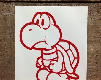 Super Mario Brothers Koopa Troopa Vinyl Decal