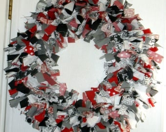 Fabric Knot Wreath