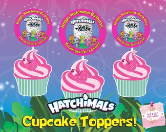 Hatchimals CollEGGtible Cupcake Toppers! Instant Download!