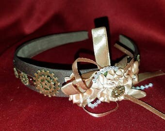 Elegant Steampunk brown headband