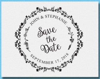 Save the Date Stamp, Custom Wedding Stamp, Thanks You Stamp, Personalized Save the Date Stamp, Wedding Favors Stamp