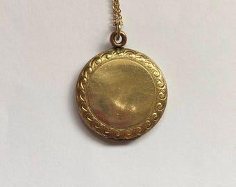 Antique Round Gold Plated Locket