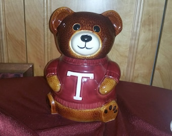 T is for Teddy bear cookie jar and small candy/ honey jar