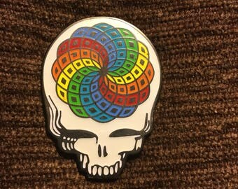 Grateful dead Steal your face sacred geometry flower of life hat pin