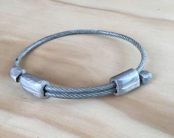 Wire Cable Men's Bracelet