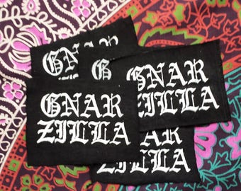 GNARZILLA Screen Printed Fabric Patch