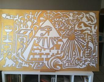 Egyptian One Line Art