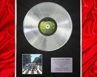 The Beatles Abbey Road CD Platinum Disc Vinyl Record LP Award Handmade Gift