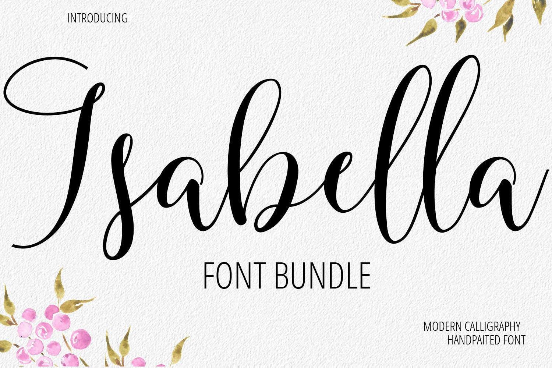 Calligraphy Fonts: Font Bundle Digital Font Calligraphy Handwritten Script