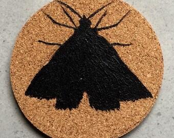 Moth Cork Coaster