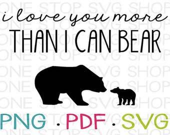 Rustic Nursery Art, Bear Art, Bear Nursery, Kids Shirt, Baby Shirt, Baby Onesie, Baby Shower Gift, Silhouette File, Cricut File, Cut File