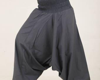 Plain Grey Hippie Harem pants yoga pyjamas trouser pocket baggy pant