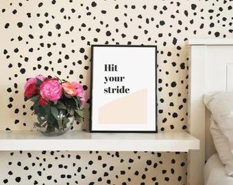 Hit your stride art print motivational wall art