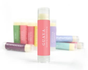 Guava Lip Balm | Shea Butter Lip Balm, All Natural Lip Balm, Flavored Lip Balm, Natural Lip Care, Lip Butter