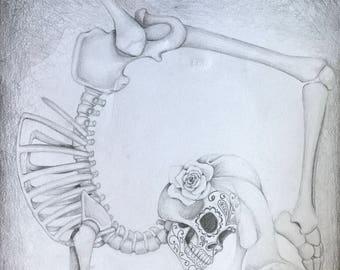 OOAK 12x18 graphite drawing